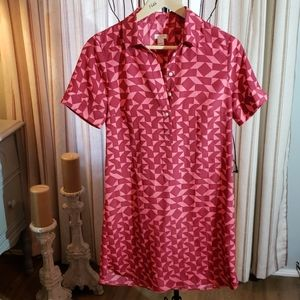 J Crew Pink Shirt Dress Size 2